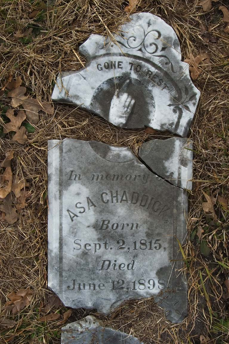 Tombstone of Asa Chaddick 6/12/1898) in Old...at Rd. 219. Roans Prairie, Texas
