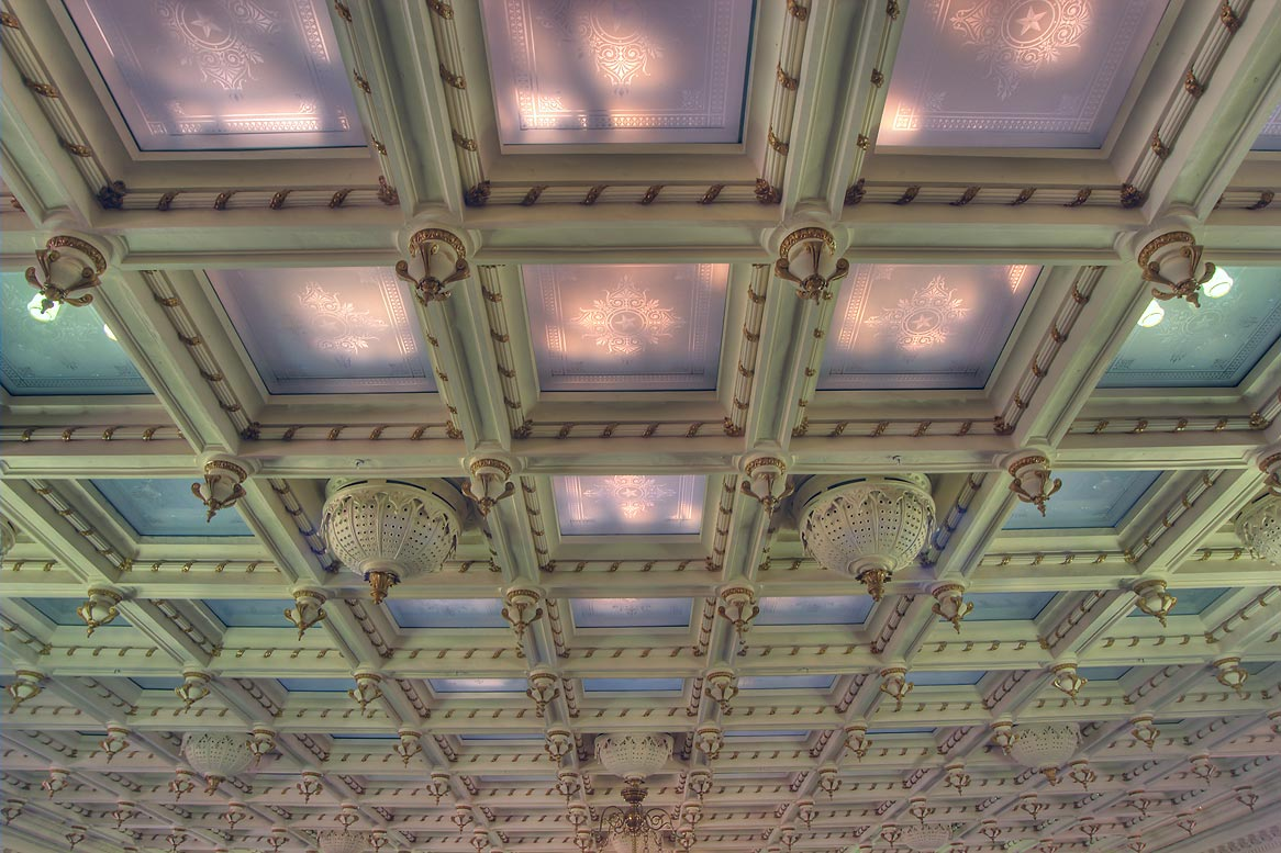 Ceiling of chamber of Senate in Texas Capitol. Austin, Texas