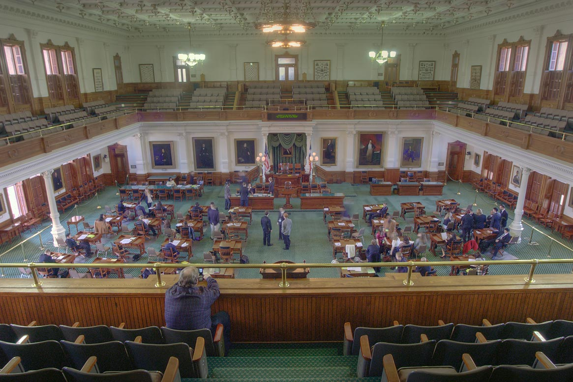Chamber of Senate in Texas Capitol. Austin, Texas