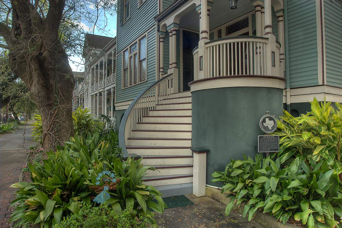 Maud Moller House (c. 1895) at 1827 Ball St. in...Historic District. Galveston, Texas