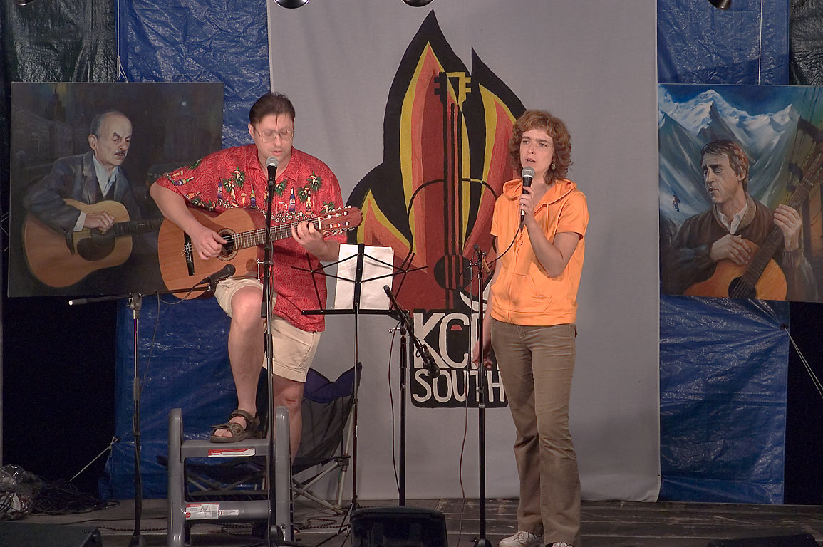 Two singers on Russian Song Festival at Lake...South Slyot No. 11). Livingston, Texas