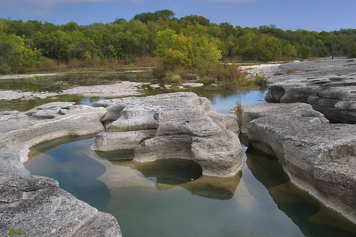 Onion Creek near Lower McKinney Falls. Austin, Texas