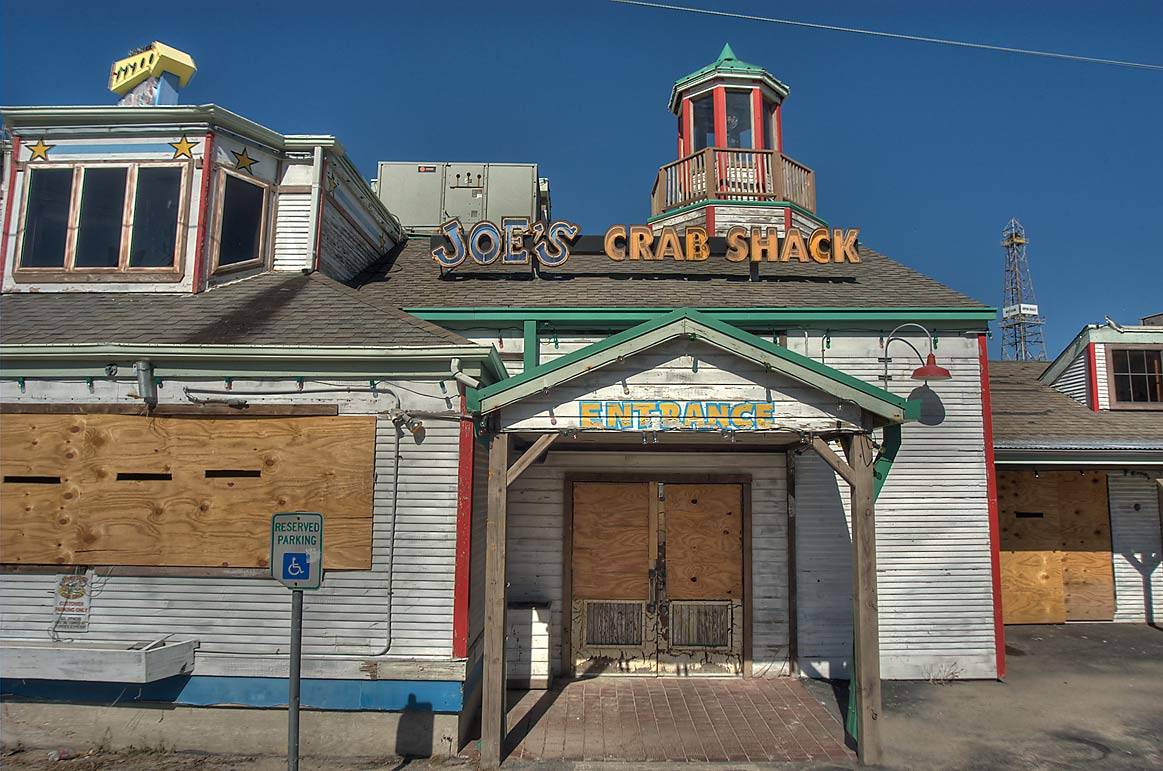 Joe's Crab Shack seafood restaurant on Pier 19 at 2000 Harborside Dr.. Galveston, Texas