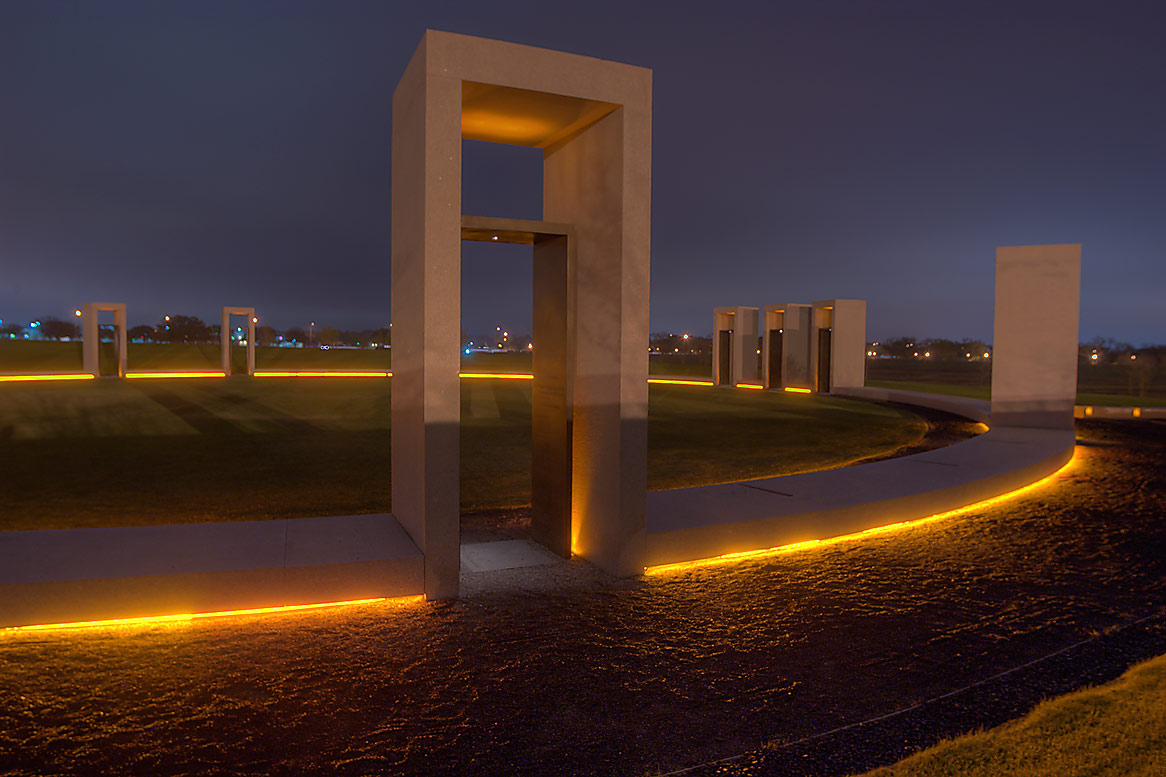 Portals of Bonfire Memorial at morning on campus...M University. College Station, Texas