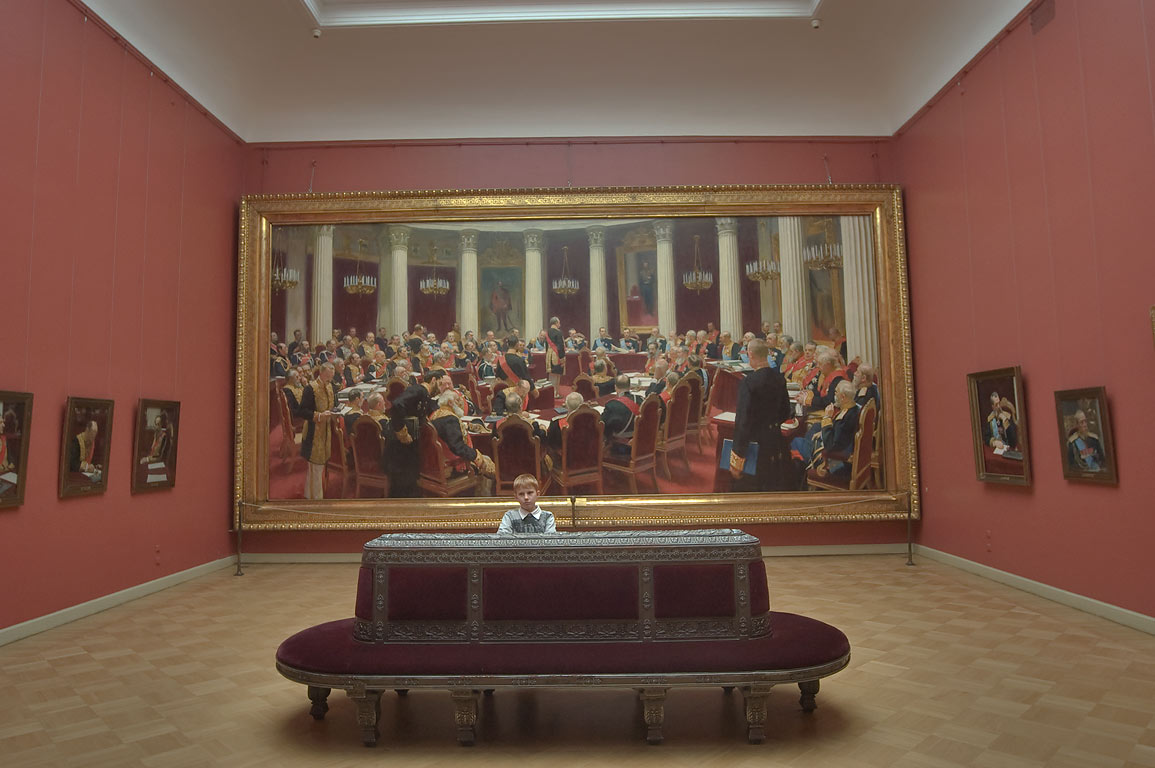 Ilya Repin painting in Russian Museum. St.Petersburg, Russia