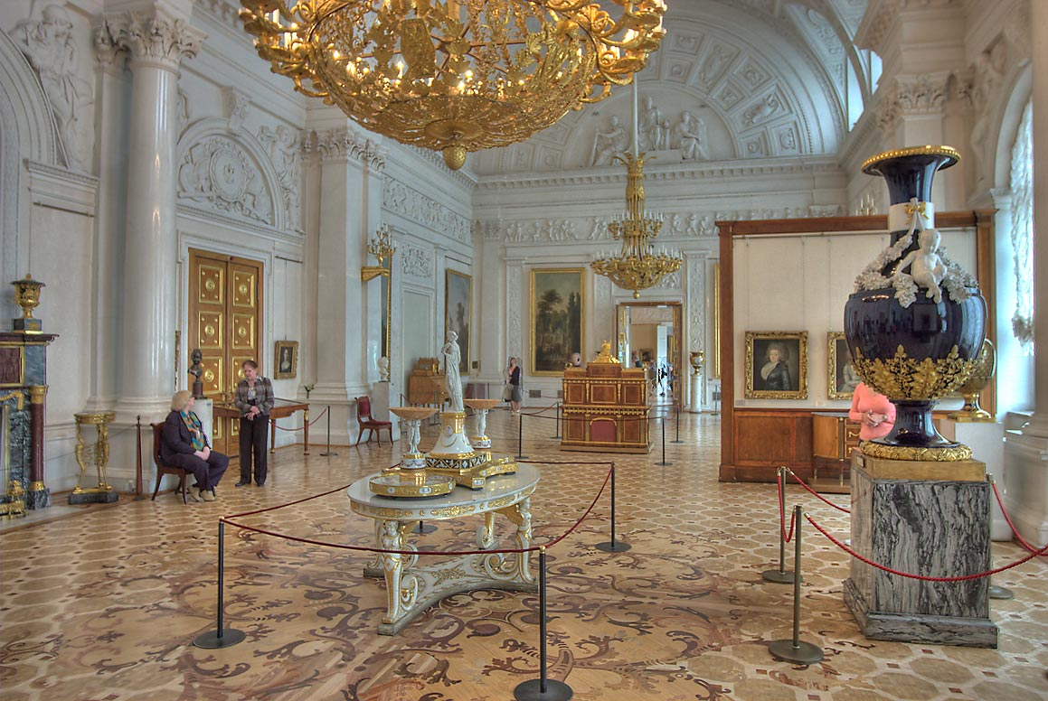 White Hall (No. 52) in Hermitage Museum. St.Petersburg, Russia