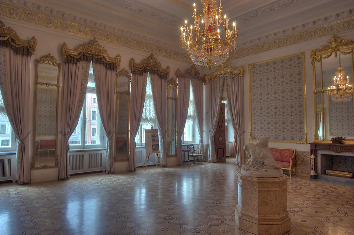 Room in Stroganov Palace. St.Petersburg, Russia
