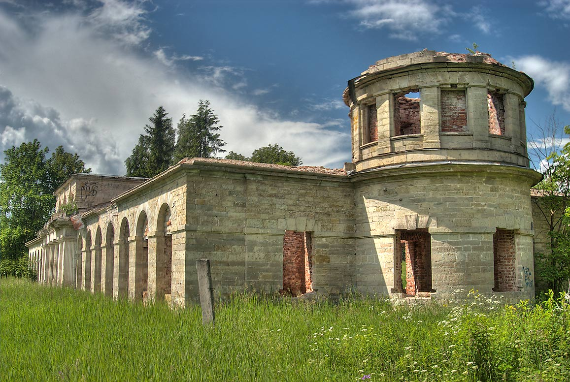Ruins of Poultry Farm (Ptichnik) in Gatchina Park...a suburb of St.Petersburg, Russia