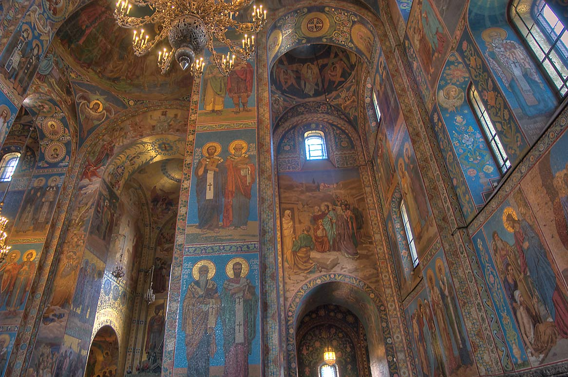Mosaics of Church of Savior on Blood. St.Petersburg, Russia