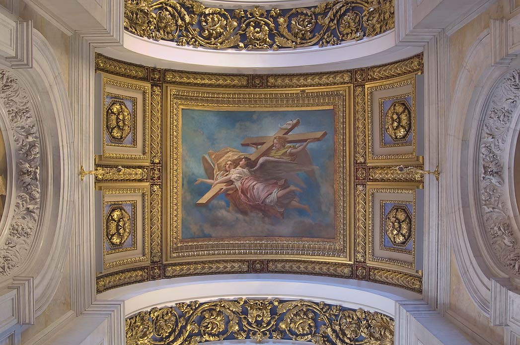 Decorated plafond of St.Isaac Cathedral. St.Petersburg, Russia