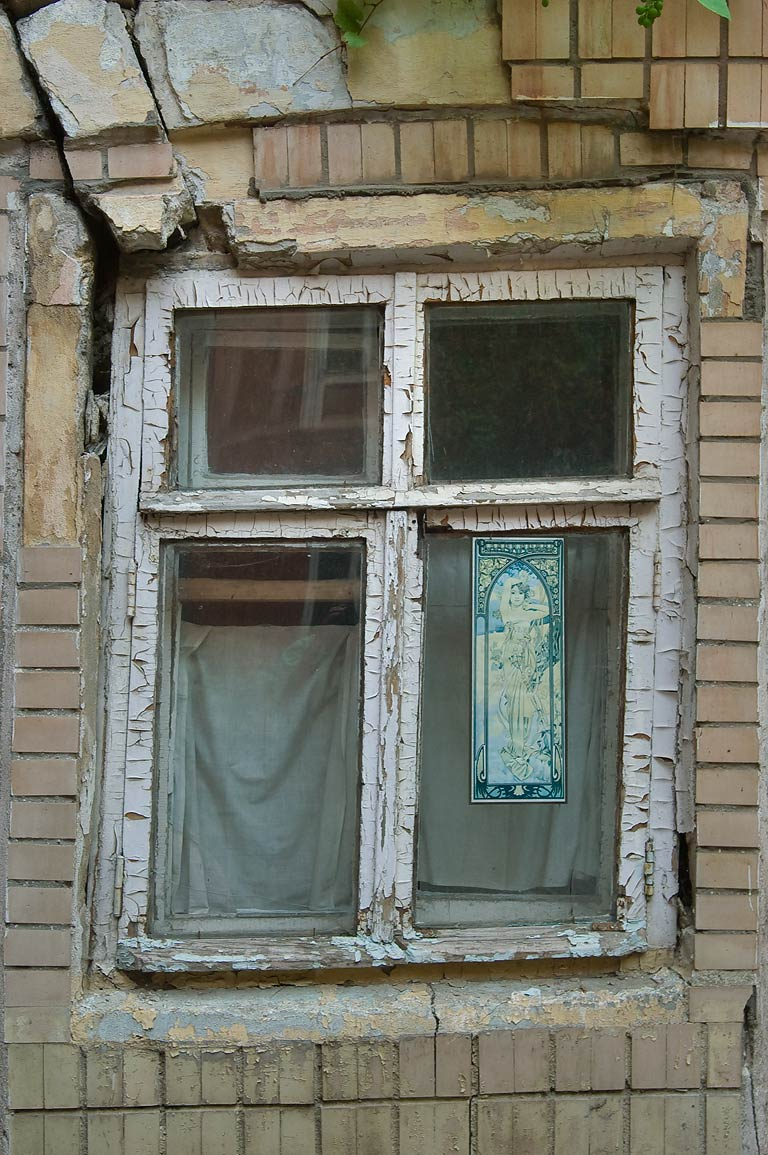 Decorated window on Primorsky Blvd.. Odessa, Ukraine