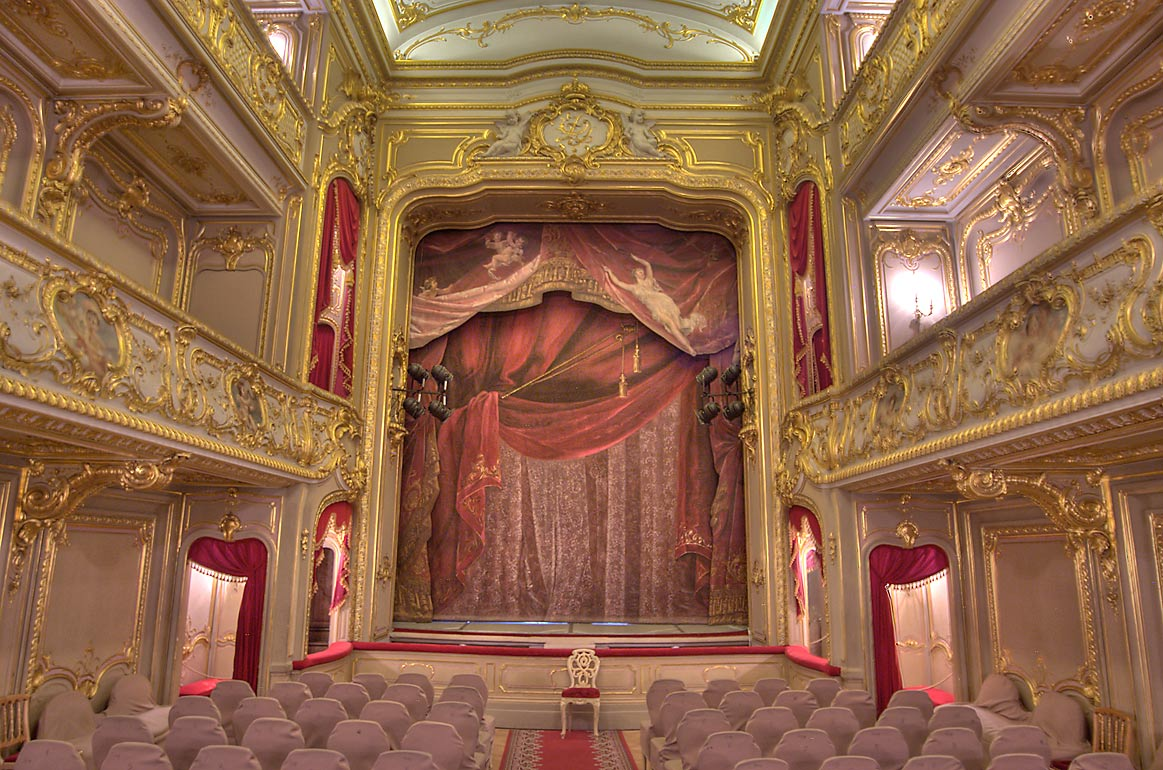 Theater (stage side) of Yusupov Palace. St.Petersburg, Russia