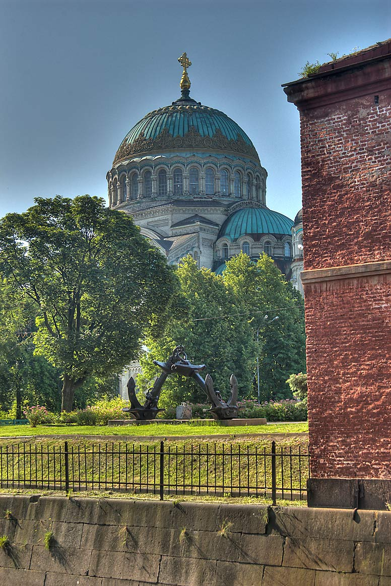 Naval Cathedral of St.Nicholas, view from Obvodny...part of St.Petersburg), Russia