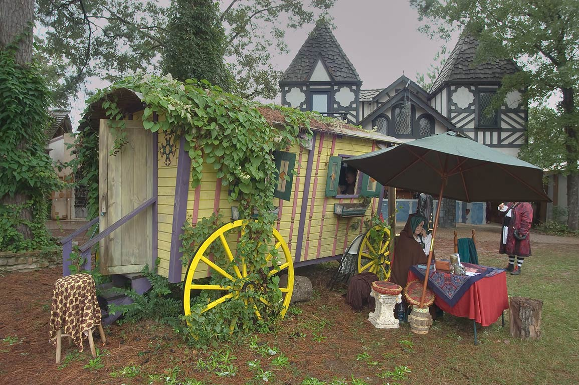 Chiromancy booth at Texas Renaissance Festival. Plantersville, Texas