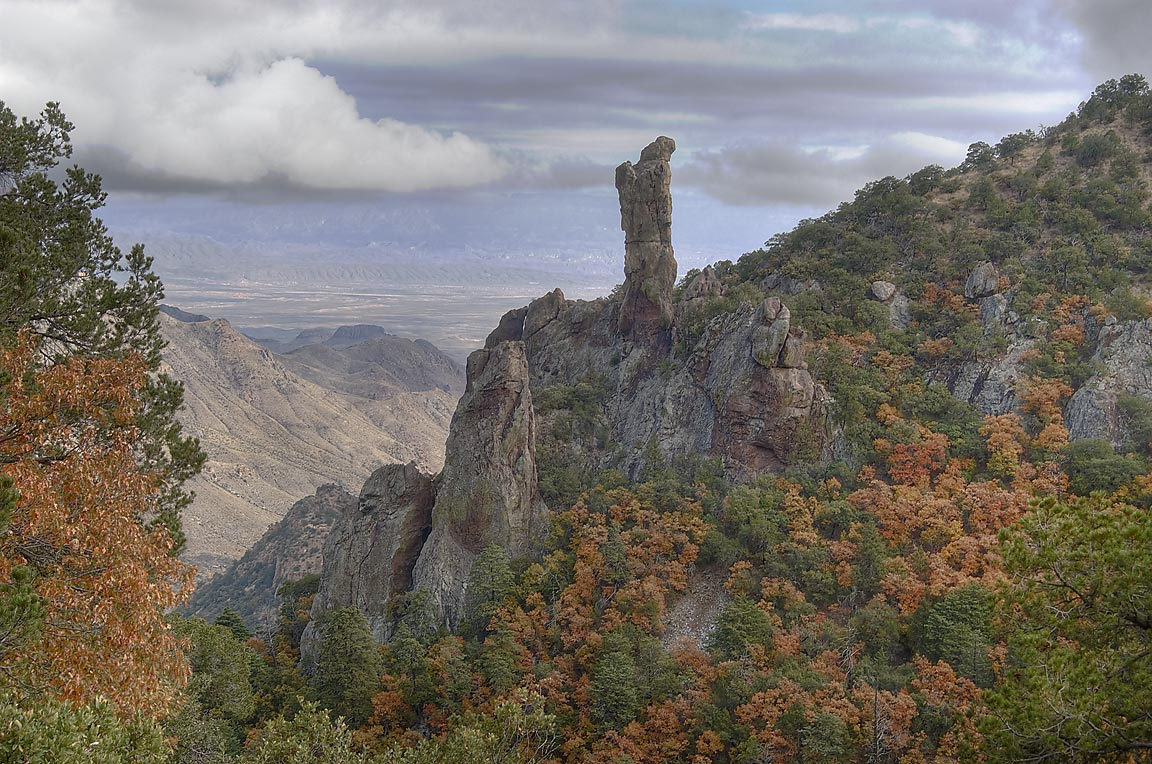 View of Boot Rock from Boot Spring Trail. Big Bend National Park