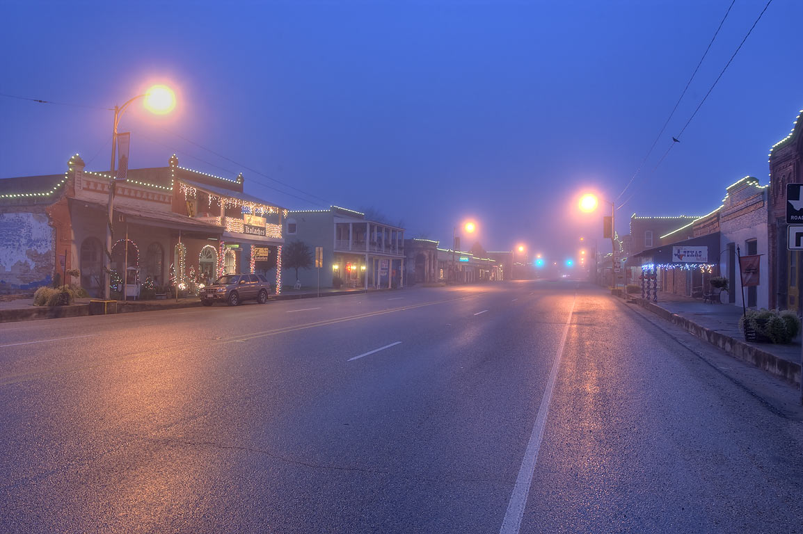 Calvert, Texas  - Main St. (Highway 6) in Calvert. Texas