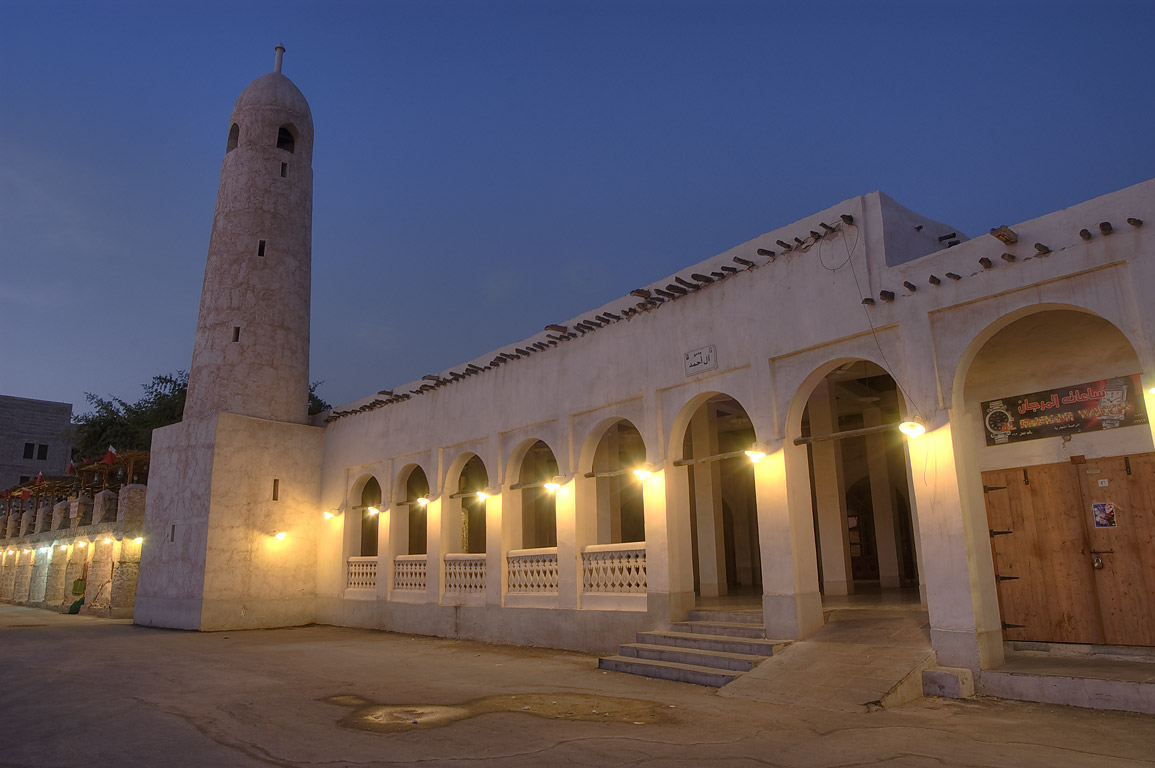 Mosque at Souq Waqif (old market) at morning. Doha, Qatar