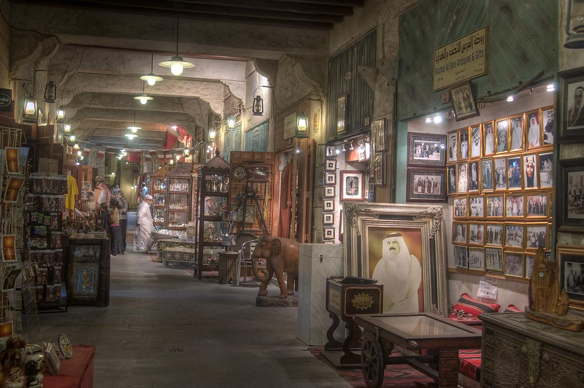 Art shop in Souq Waqif (old market). Doha, Qatar