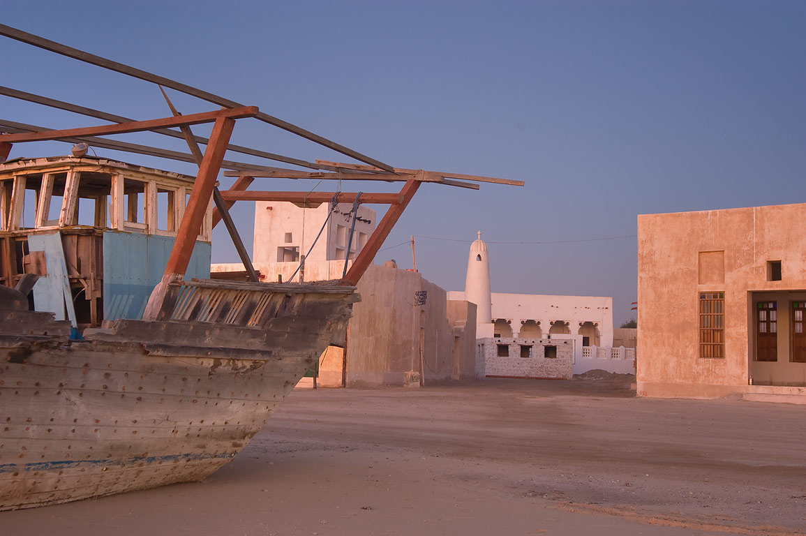 Reconstructed historical village in Al Wakra, south from Doha. Qatar