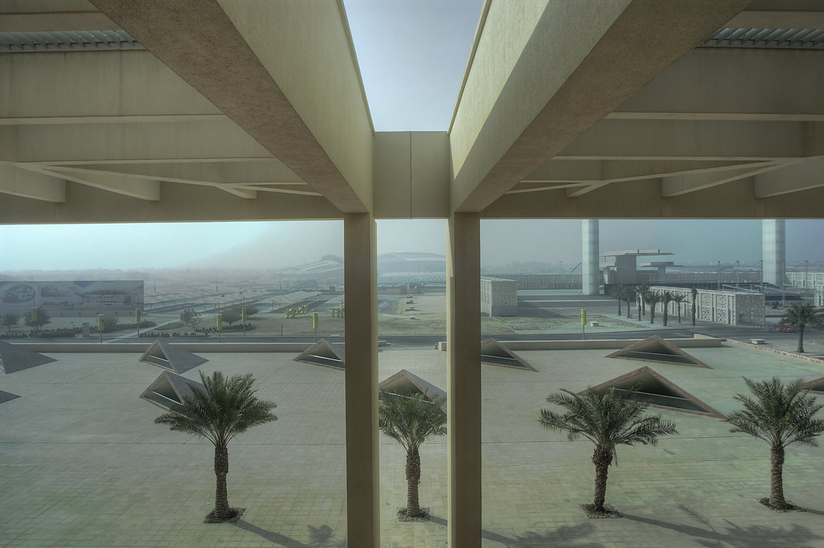 View from a window to the south from TAMUQ...in Education City campus. Doha, Qatar