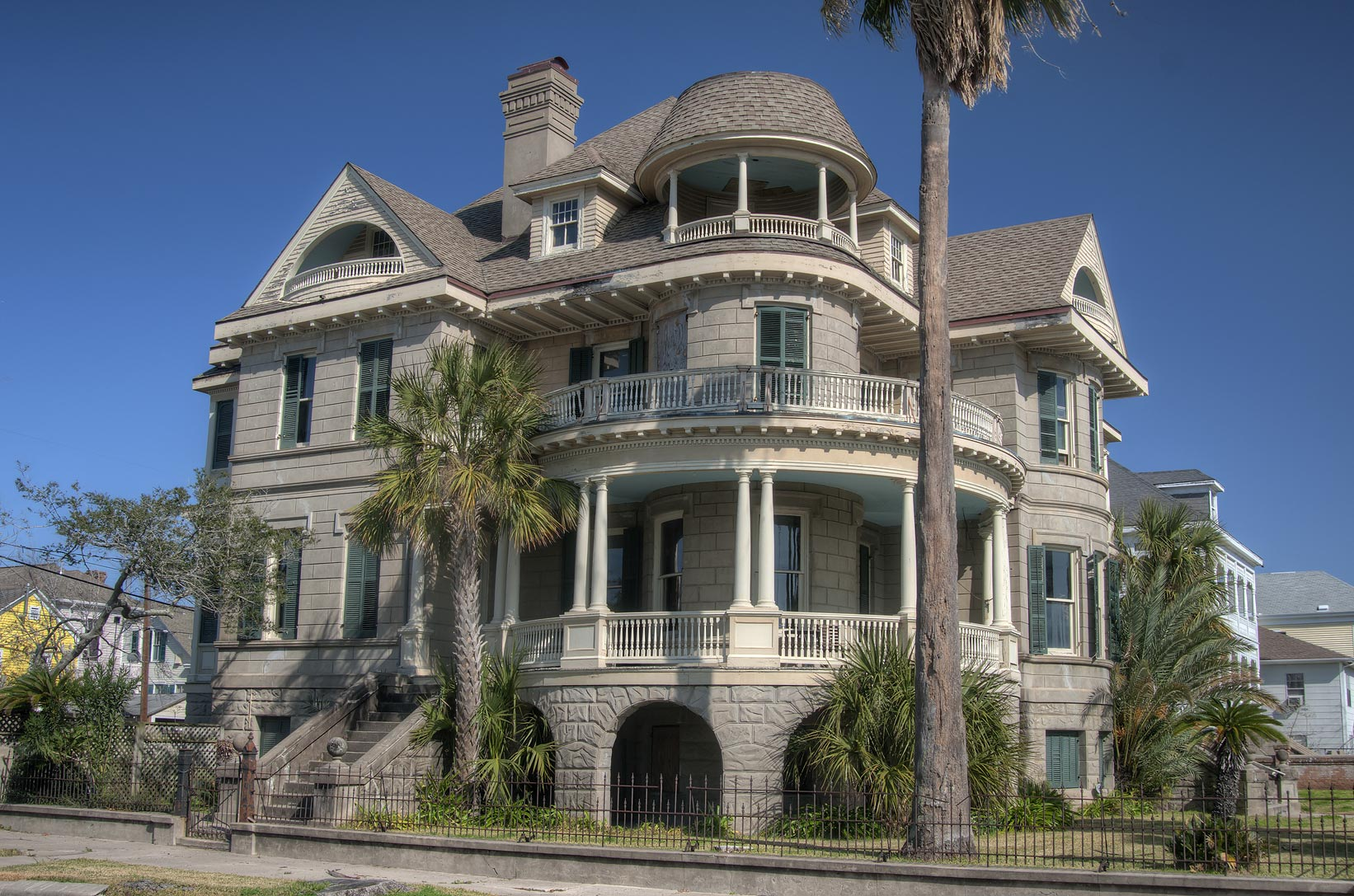 Clarke-Jockusch House (1895) at 1728 Sealy St. in...Historic District. Galveston, Texas