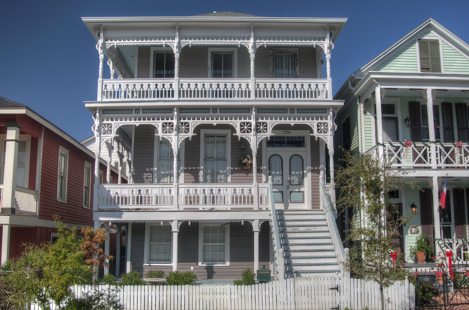 House on Ball Street in East End Historic District. Galveston, Texas