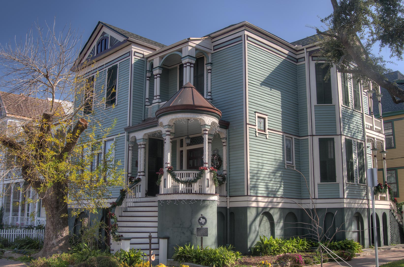Maud J. H. Moller house (c. 1895) at 1827 Ball St...Historic District. Galveston, Texas