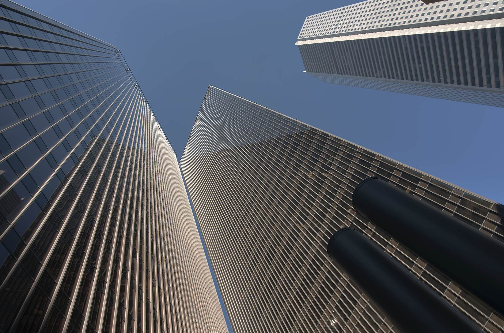 Pennzoil Place and JP Morgan Chase Tower in Houston downtown. Texas