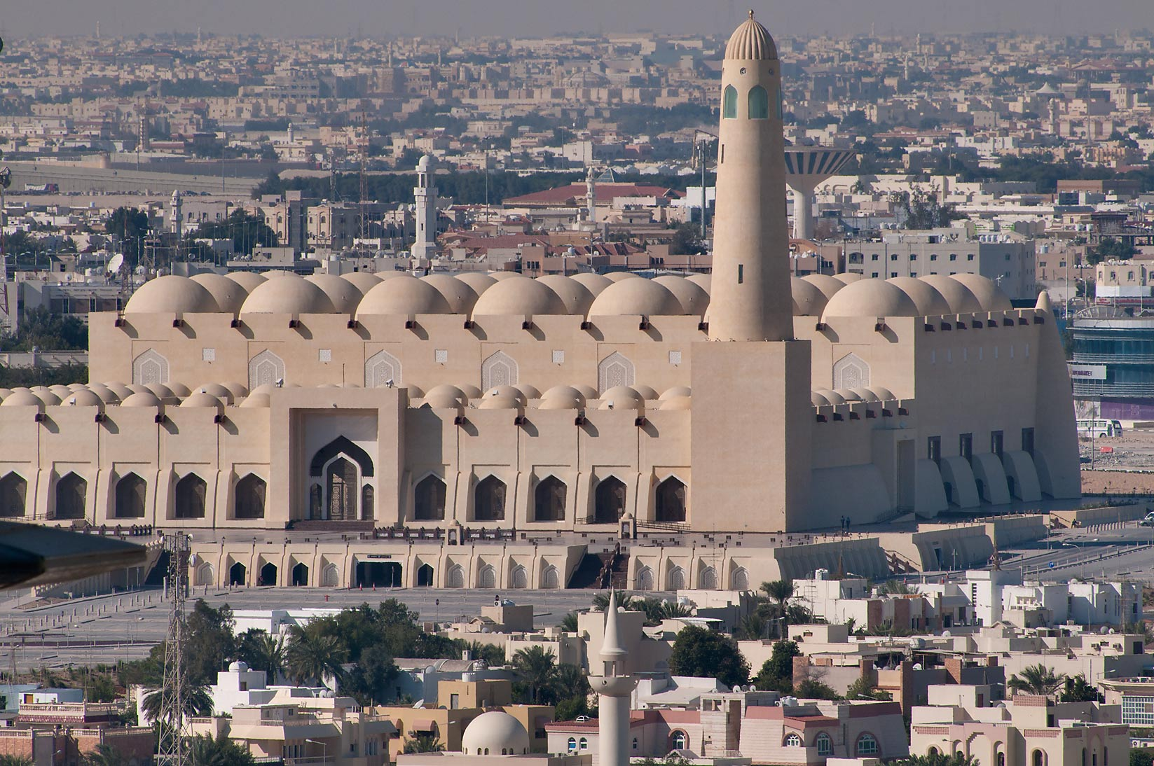State Mosque at Al-Khuwair from ASAS Tower West...a balcony of Room 2303. Doha, Qatar