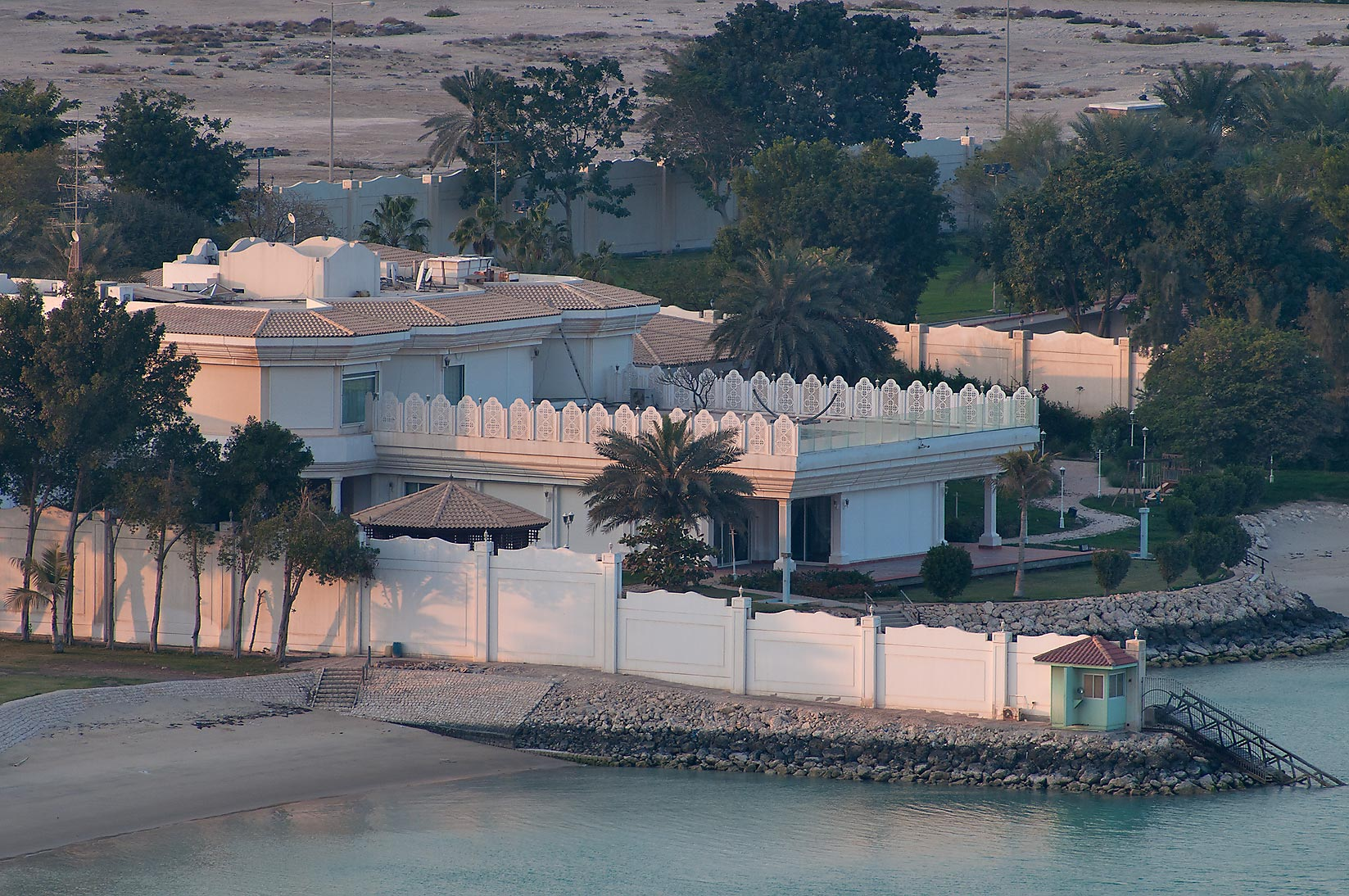 Palace of Sheikh Khalifa bin Hamad on a beach...2303 of ASAS Tower West. Doha, Qatar