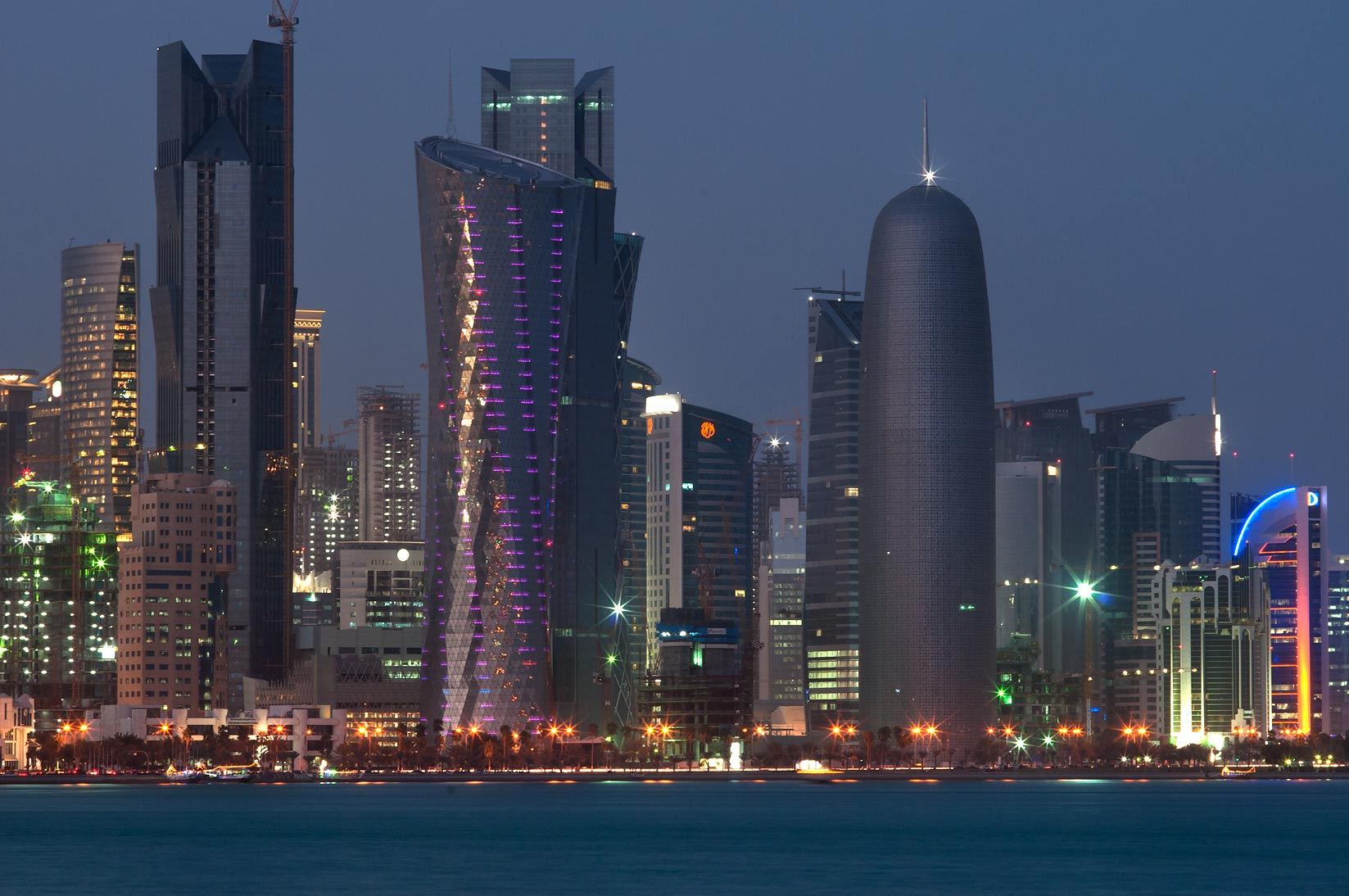 West Bay from Corniche (seafront). Doha, Qatar