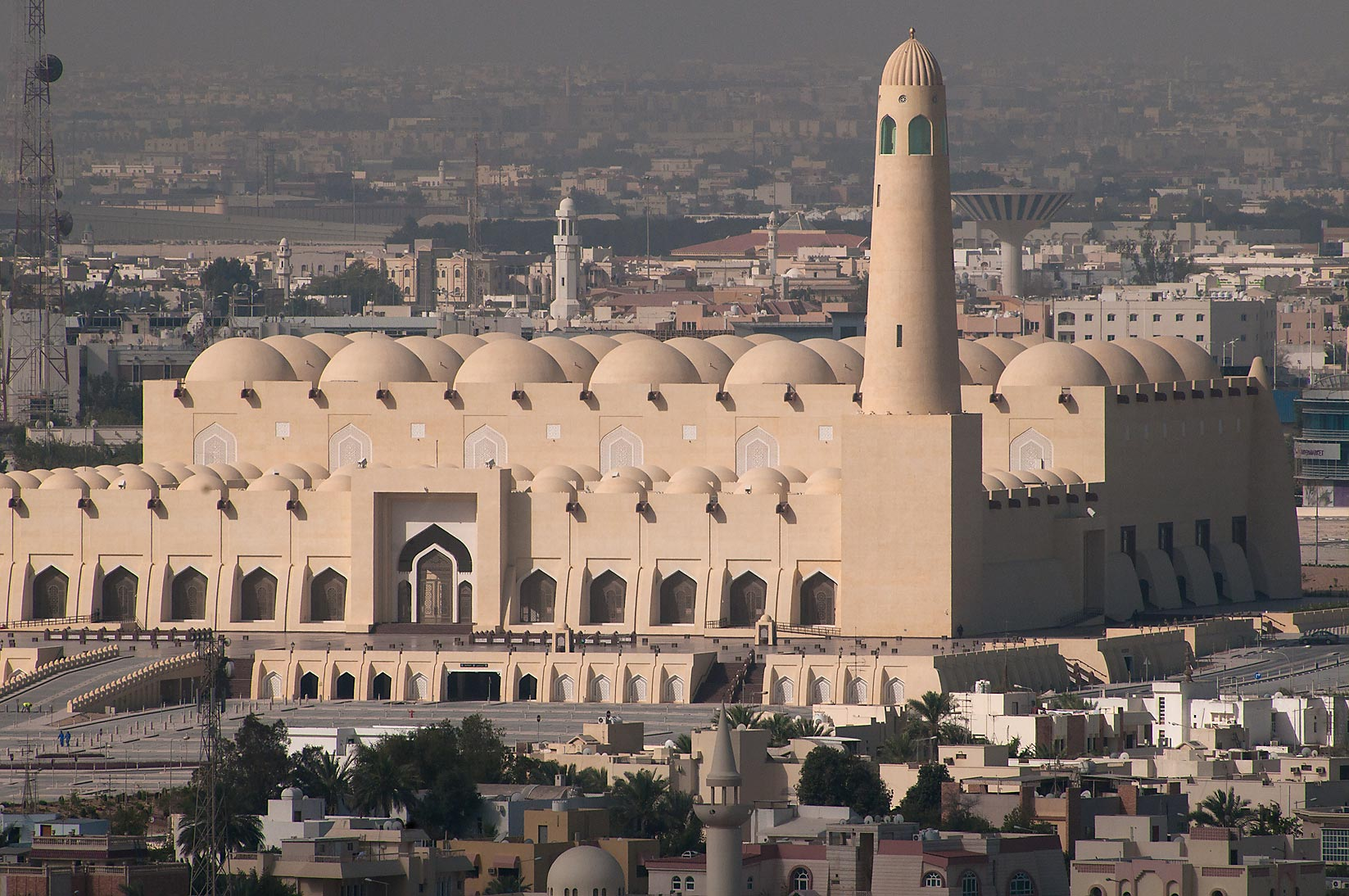 State Mosque at Al-Khuwair at morning, view from...2303 of ASAS Tower West. Doha, Qatar