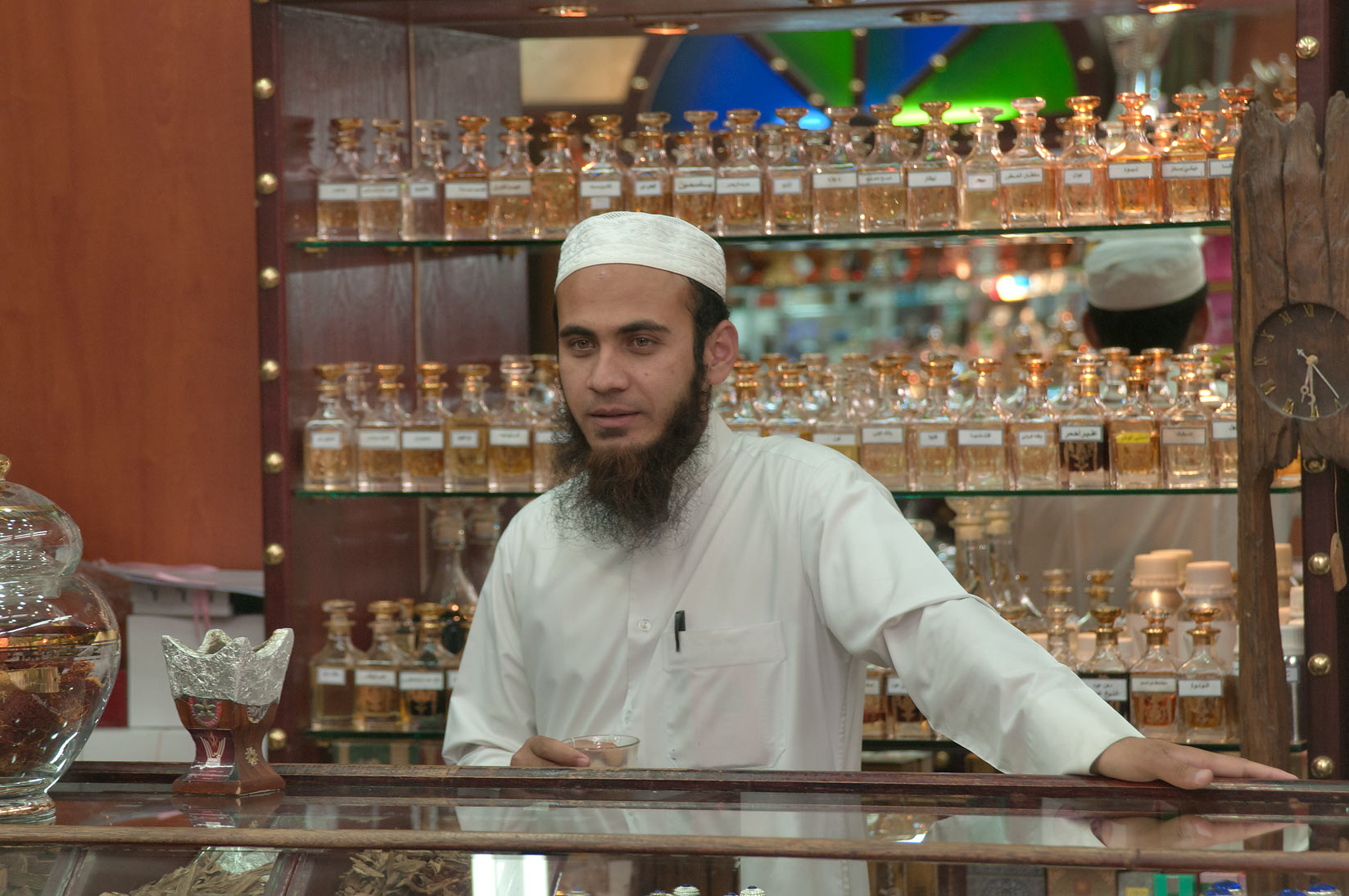 Selling perfumes in Souq Waqif (Old Market). Doha, Qatar