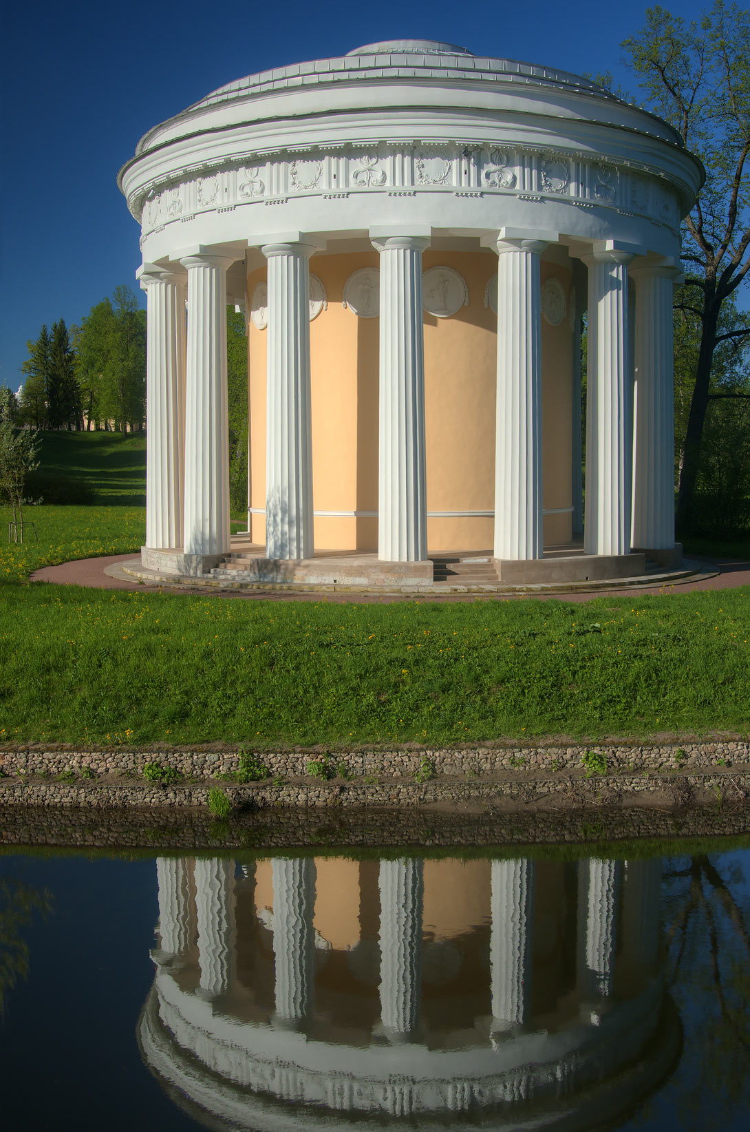 Friendship Temple in Pavlovsk Park, south from St.Petersburg. Russia