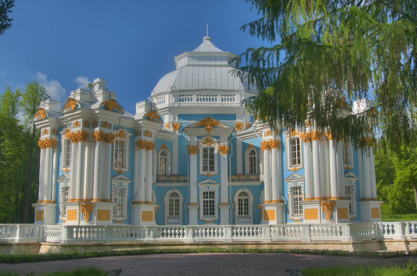Hermitage Pavilion in Ekaterininsky Park. Pushkin...south from St.Petersburg, Russia