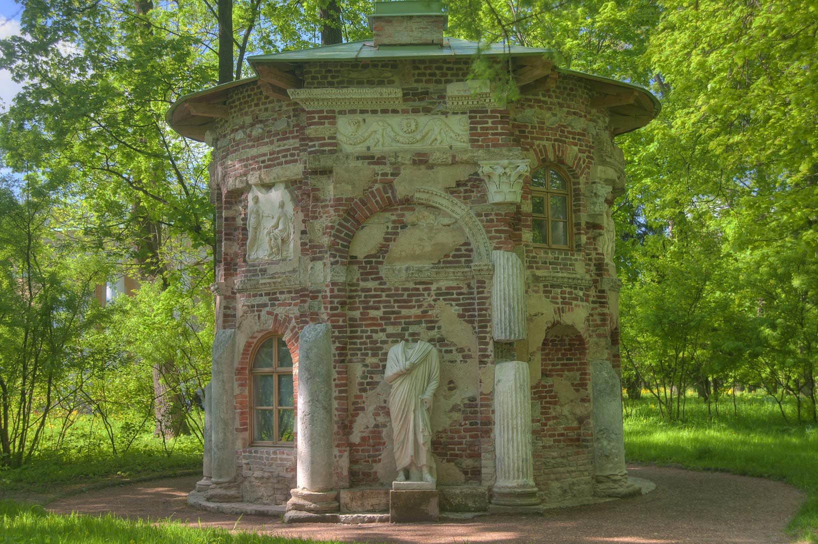 Kitchen Ruin Pavilion in Ekaterininsky Park...south from St.Petersburg, Russia