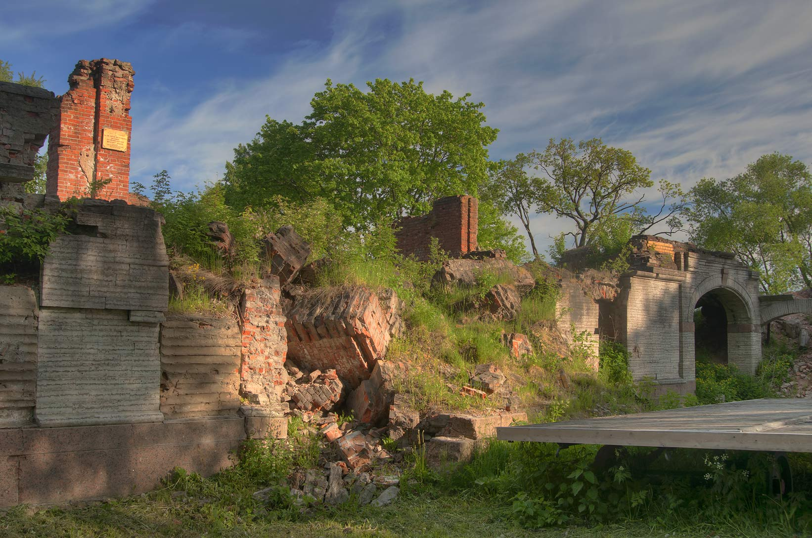 Ruins of Lower Dacha of Tsar Nicholas II in...west from St.Petersburg. Russia