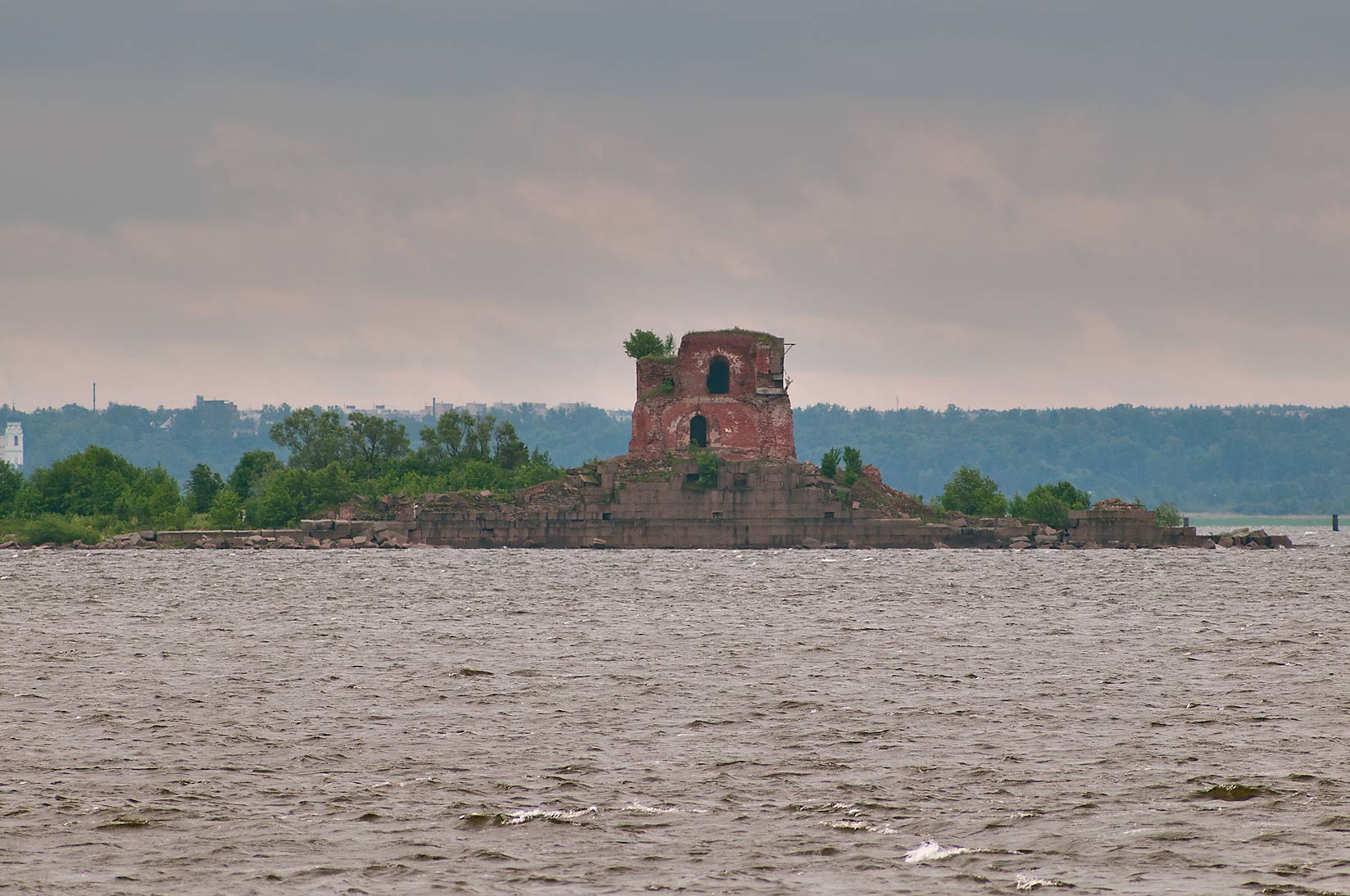 Ruins of Fort Pavel I (Risbank), view from Fort...Kronstadt. St.Petersburg, Russia