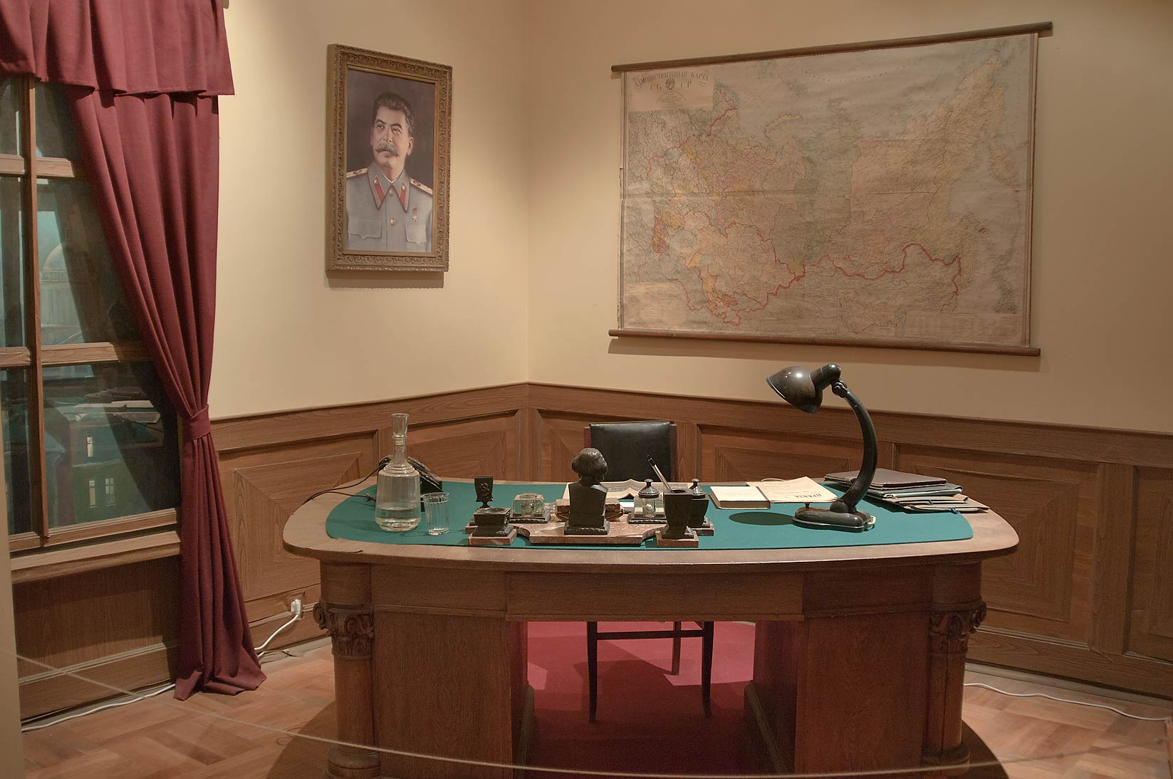 Soviet office (Kabinet) in Museum of Political...Mansion). St.Petersburg, Russia
