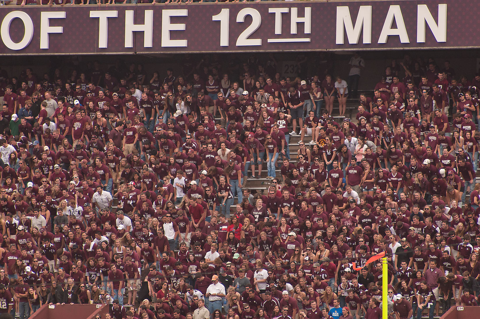 Football game with Kansas Jayhawks at Kyle Field...M University. College Station, Texas