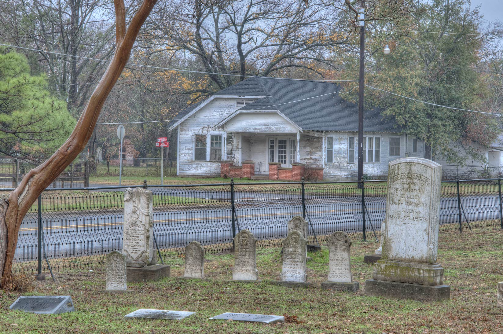 Tombs of Calvert Cemetery. Calvert, Texas