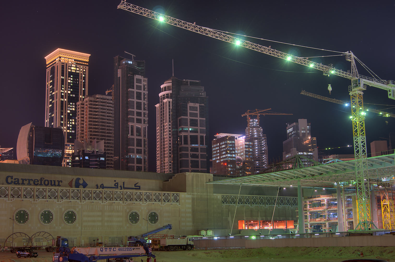 Construction of Convention Center behind City Center Mall. Doha, Qatar