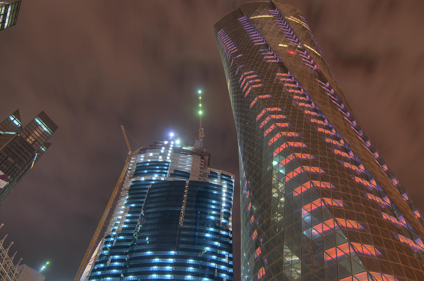 World Trade Center Tower and Complex (WTC) and Al Bidda Tower in West Bay. Doha, Qatar