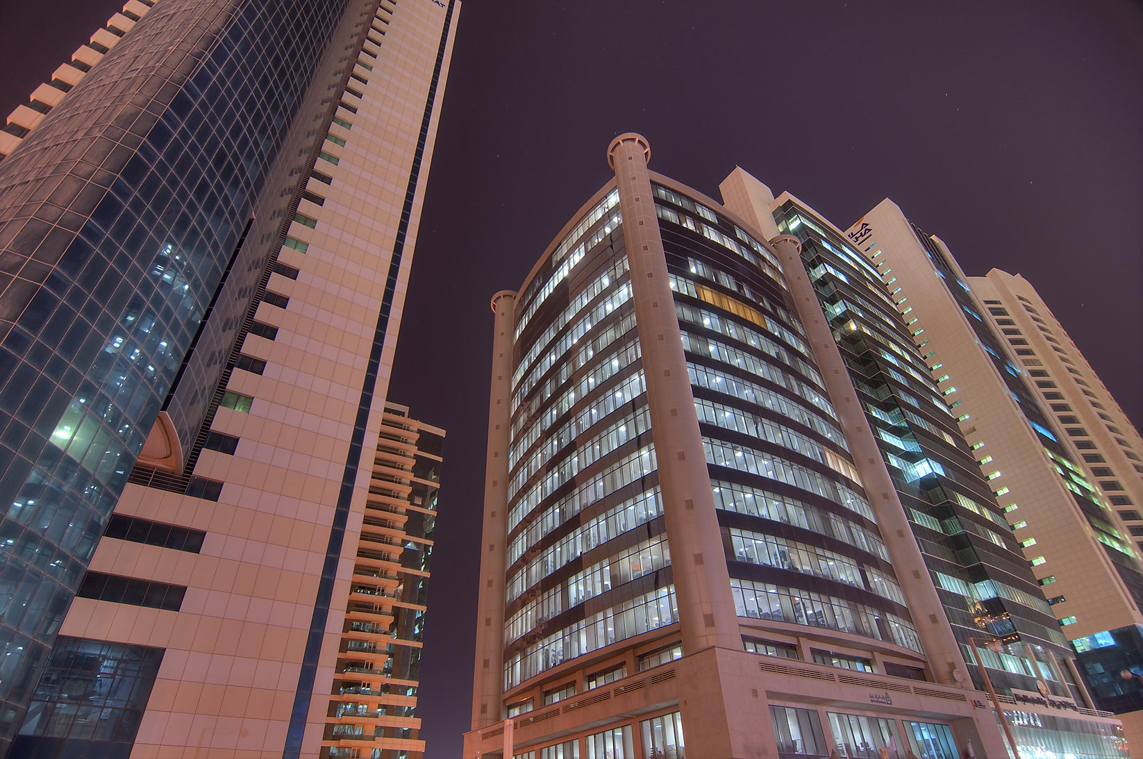 RasGas and Diplomat Office towers in West Bay. Doha, Qatar