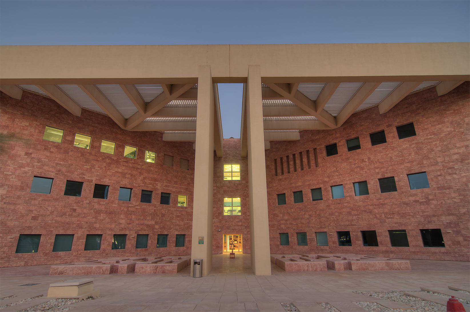 West entrance of TAMUQ research area (Texas A&M...in Education City campus. Doha, Qatar