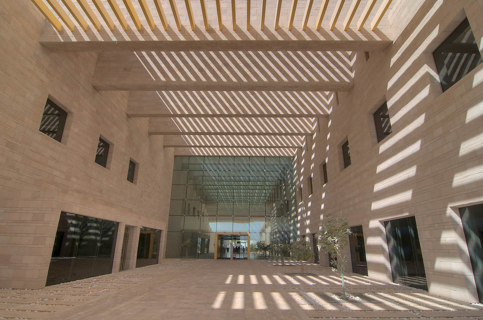 Entrance of Carnegie Mellon University in Education City. Doha, Qatar