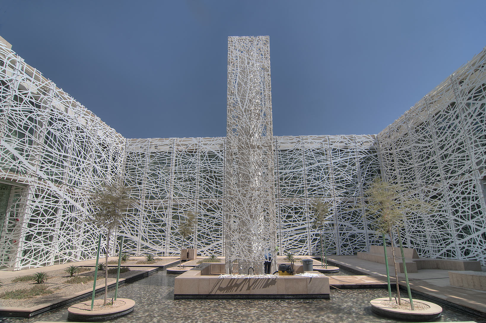 Sculpture Garden by Jan Hendrix in a courtyard of...in Education City campus. Doha, Qatar