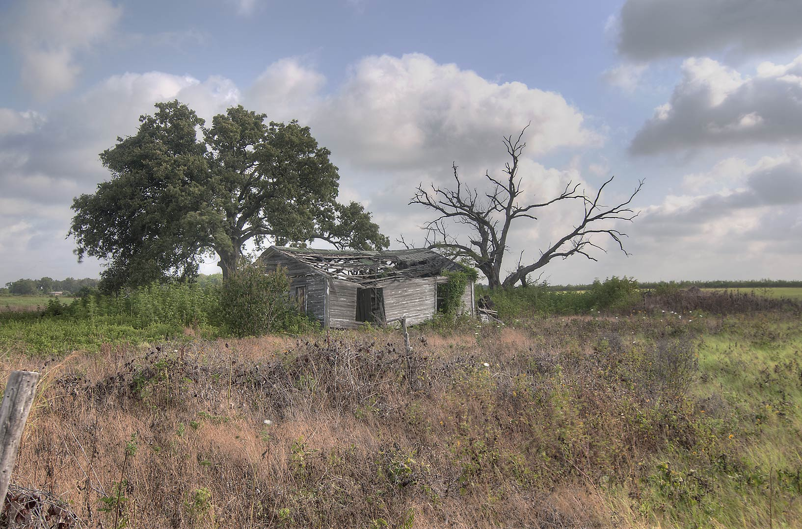 Old farm at FM 2027 north from Calvert. Texas