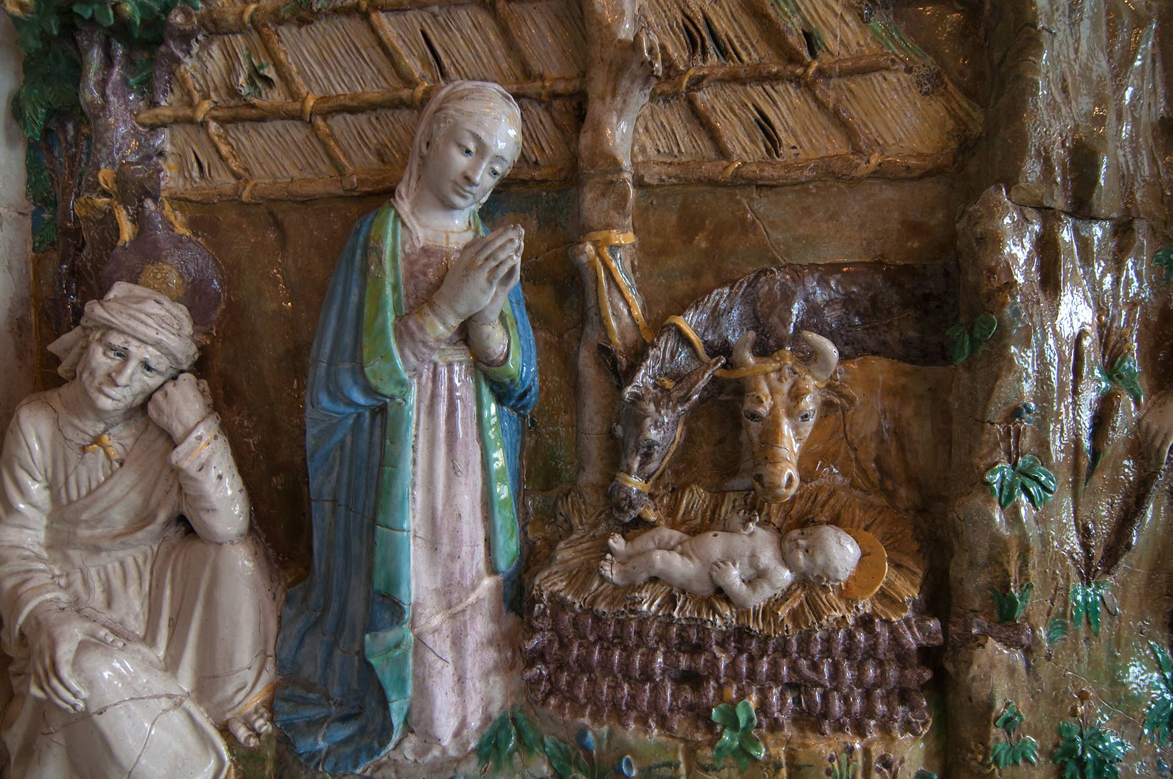 Nativity scene in Hermitage Museum. St.Petersburg, Russia