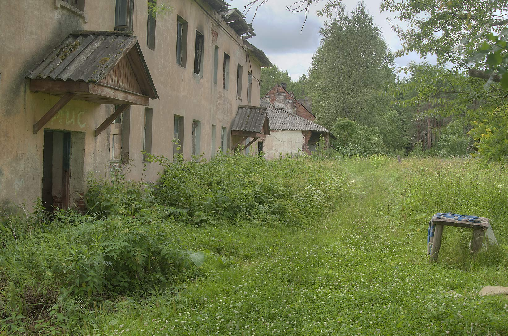 Worker's dorms in village of Kirpichny Zavod...miles north from St.Petersburg. Russia